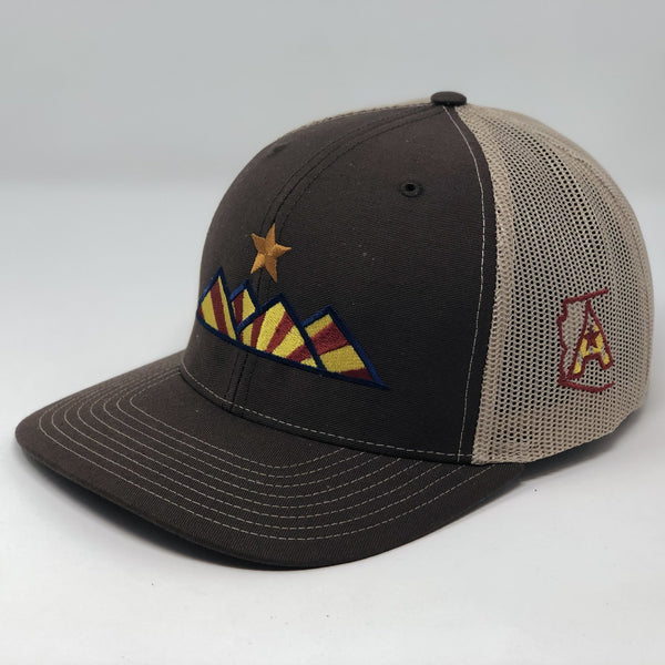 Hike Trucker Hat - Brown/Tan