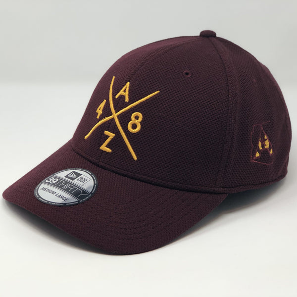AZ48 Compass Fitted Cap - Maroon/Gold