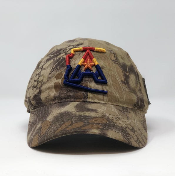 Arizoniacs 4-Color Logo Sand Kryptek Camo Cap