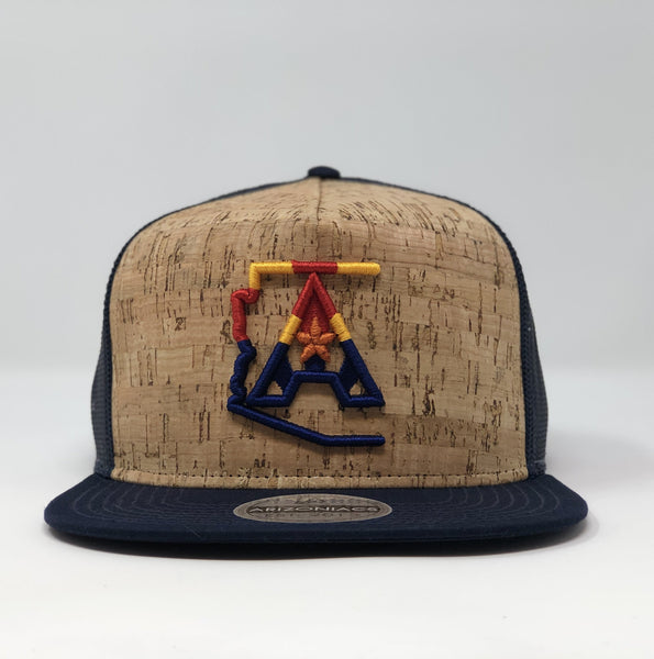Arizoniacs 4-Color Navy Cork Hat