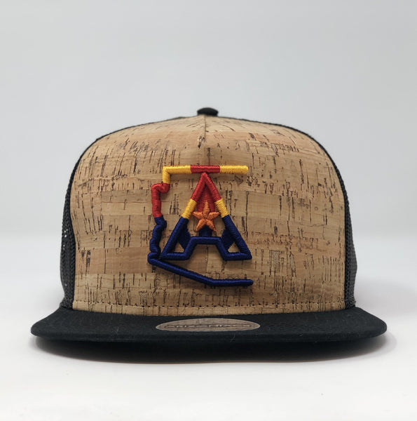 Arizoniacs 4-Color Black Cork Hat
