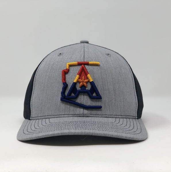 Arizoniacs 4-Color Logo Heather Grey/Navy Trucker Hat