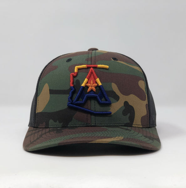 Arizoniacs 4-Color Logo Camo Trucker Hat
