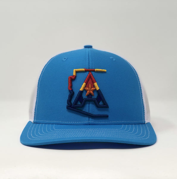 Arizoniacs 4-Color Logo Turquoise Trucker Cap