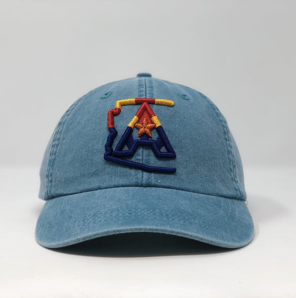 Arizoniacs 4-Color Logo Dad Hat - Turquoise