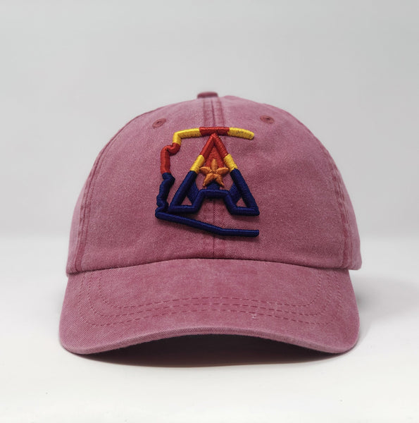 Arizoniacs 4-Color Logo Dad Hat - Red