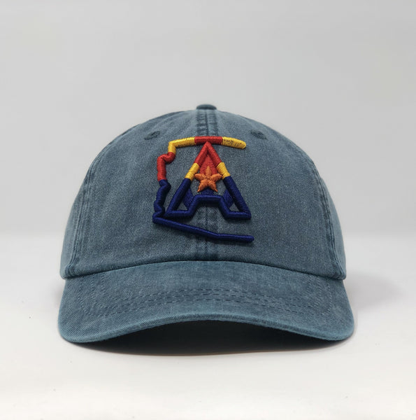 Arizoniacs 4-Color Logo Dad Hat - Navy