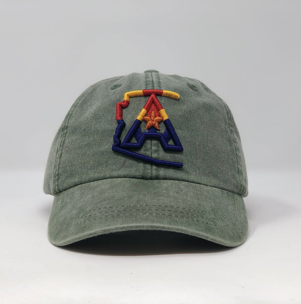 Arizoniacs 4-Color Logo Dad Hat - Olive