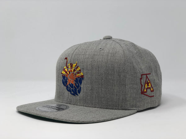 Arizona Beer Hop Flatbill Snapback Cap - Grey