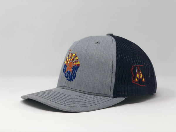 Arizona Beer Hop Trucker Cap - Grey/Navy