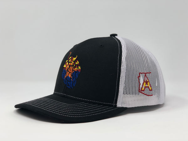 Arizona Beer Hop Trucker Cap - Black/White