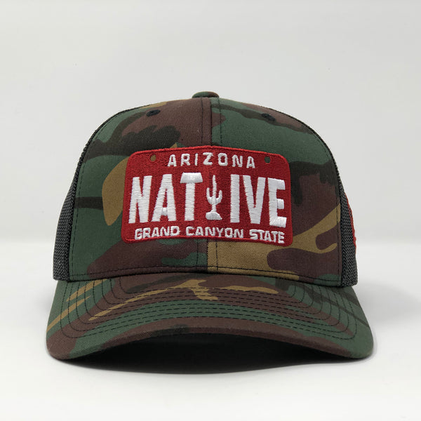 Native License Plate Trucker Cap -