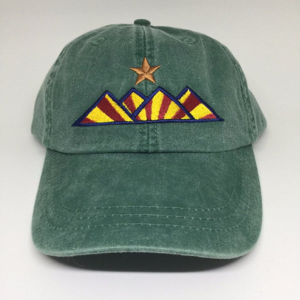 Hike Pigment Dyed Dad Hat - Forest Green