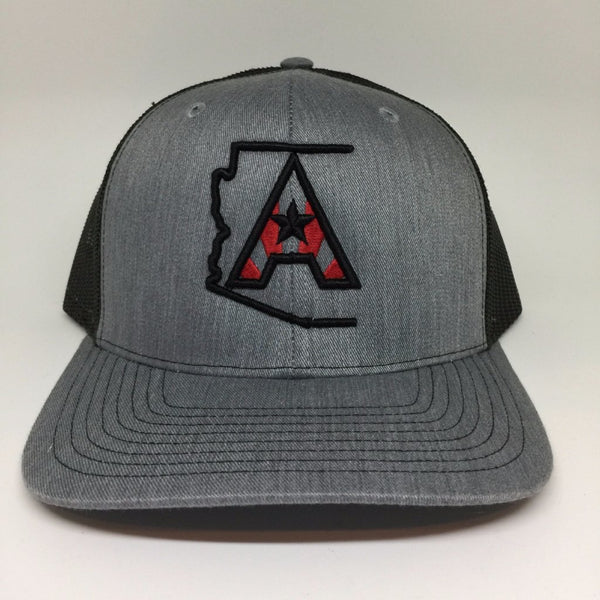 Arizoniacs Logo Heather Grey/Black Trucker Cap