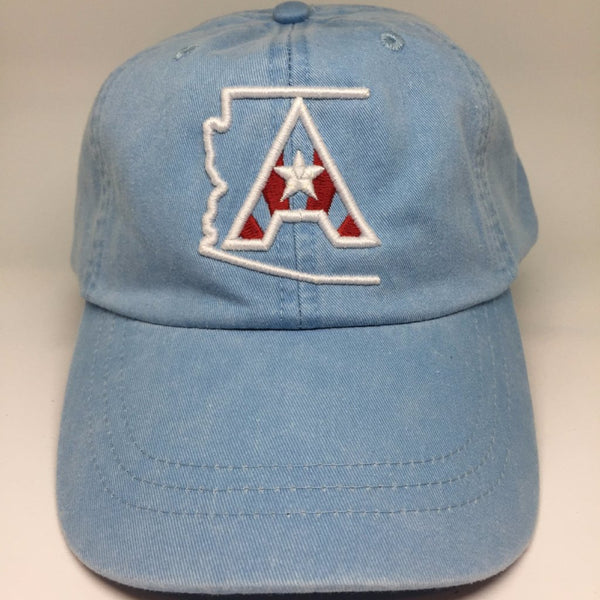 Arizoniacs Pigment Dyed Dad Hat - Powder Blue/White