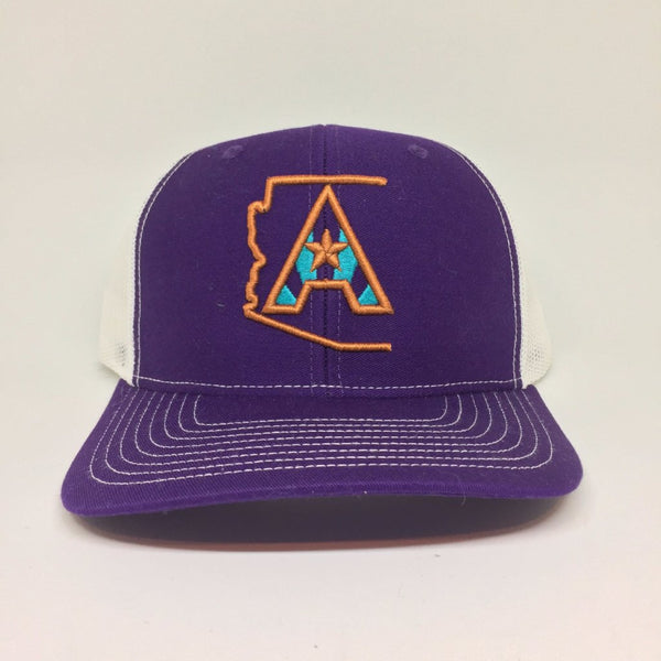 Arizoniacs Purple/White Trucker Hat