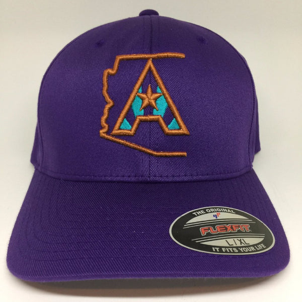 Arizoniacs Logo Fitted Cap - Purple/Copper