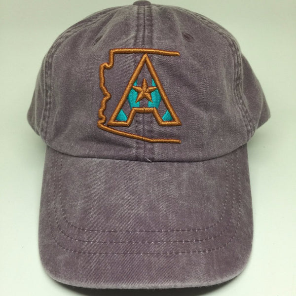 Arizoniacs Pigment Dyed Dad Hat - Plum/Copper