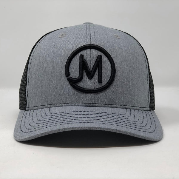JM - Jacob Morris - Grey/Black Trucker Cap