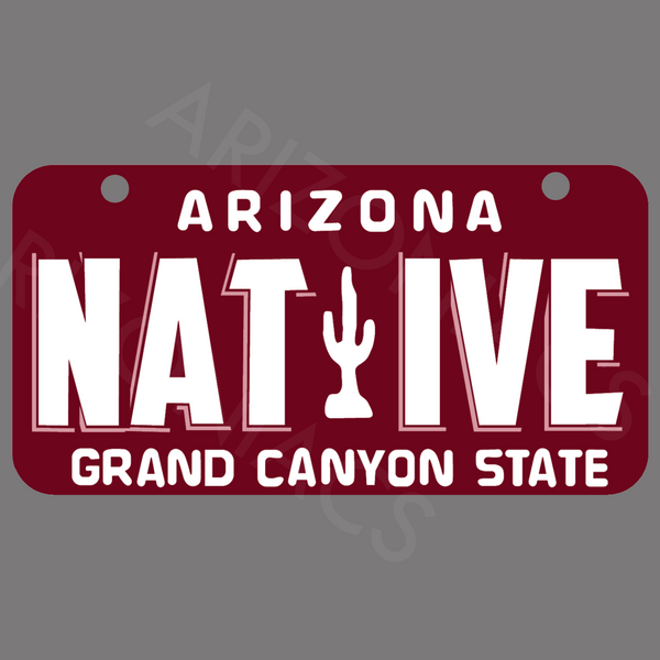 Arizona Native License Plate