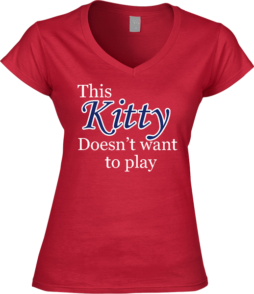 This Kitty Doesn't Want to Play - Wildcats Women's tee