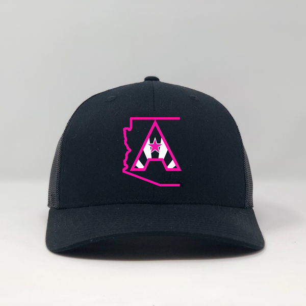 Arizoniacs Logo Pink/Black Trucker Hat