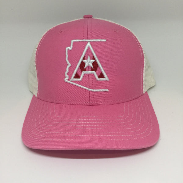 Arizoniacs Logo Trucker Hat - Pink/White
