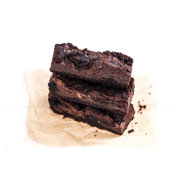 Chewy Chocolate and Caramel Brownie