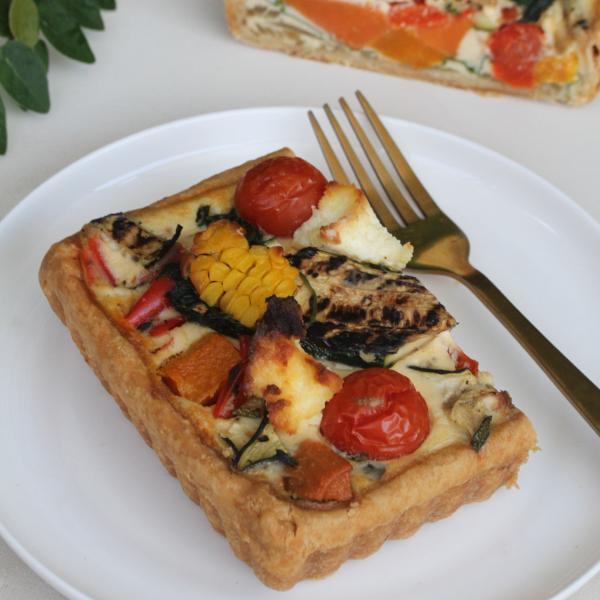 Long Roasted Vegetable & Ricotta Tart
