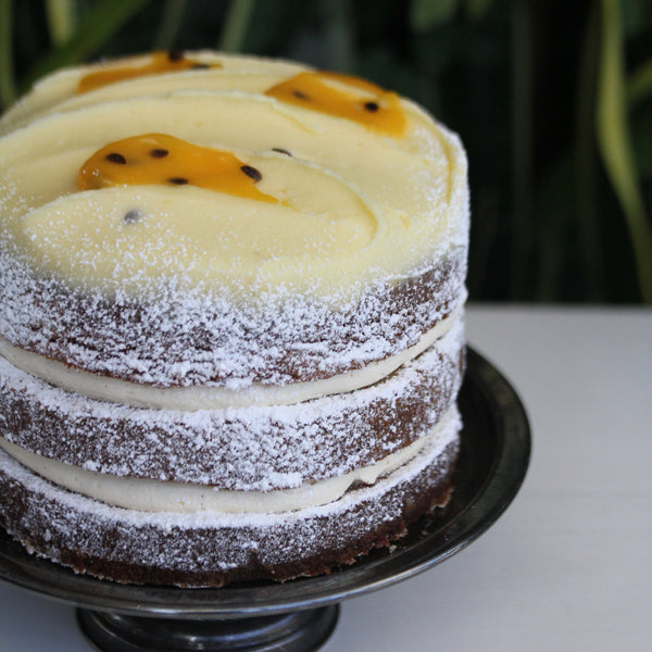 Layered Passionfruit Butter Cake – Large