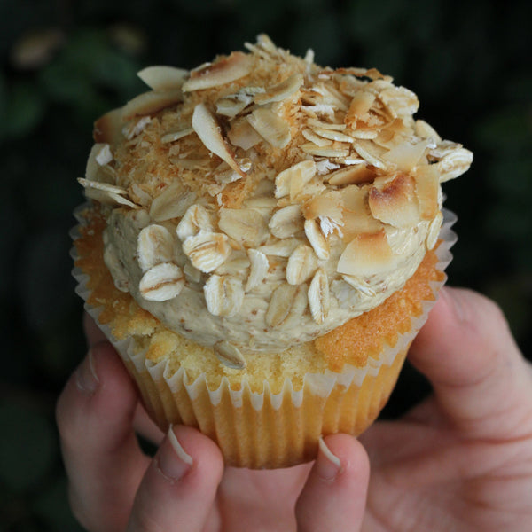 Charity Cupcake — ANZAC Biscuit Inspired