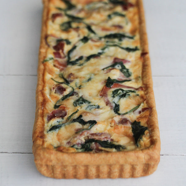 Long Prosciutto and Brie Tart