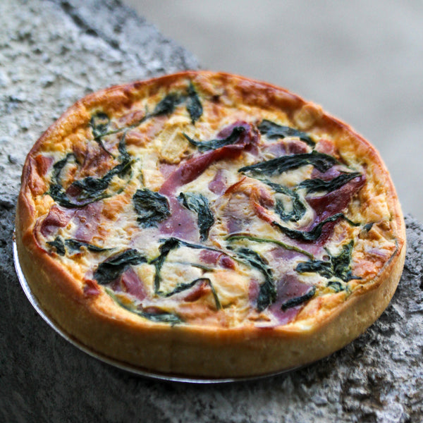 Round Prosciutto and Brie Tart