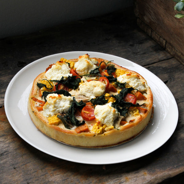 Round Roasted Vegetable & Ricotta Tart