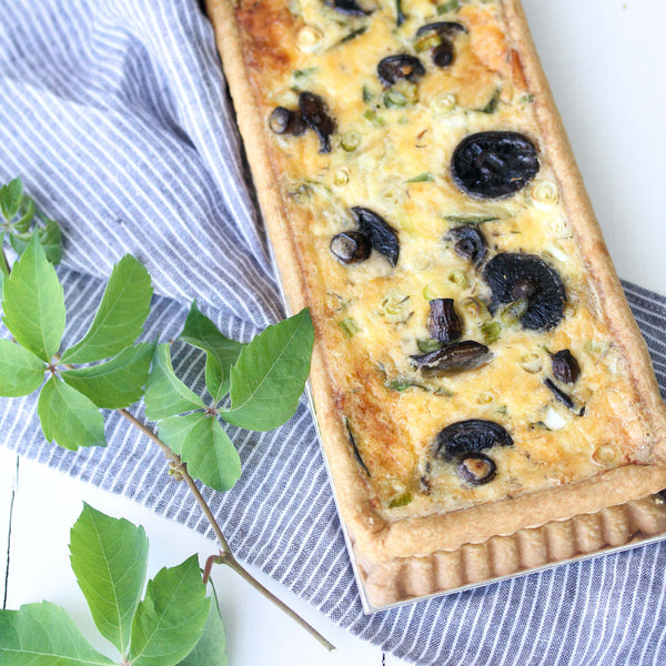 Long Mushroom, Thyme and Shallot Tart