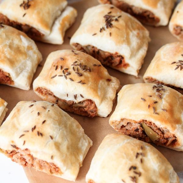Mini Sausage Rolls Dozen Pork & Apple