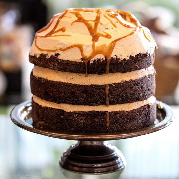 Salted Caramel Layer Cake Small Round