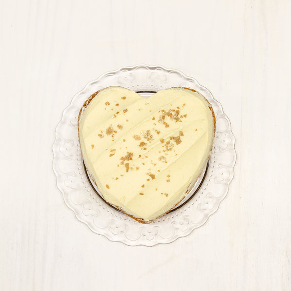 Butter Cake Vanilla Large Heart