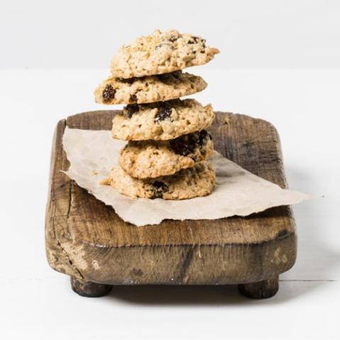 Chewy Sultana and Oat Cookies