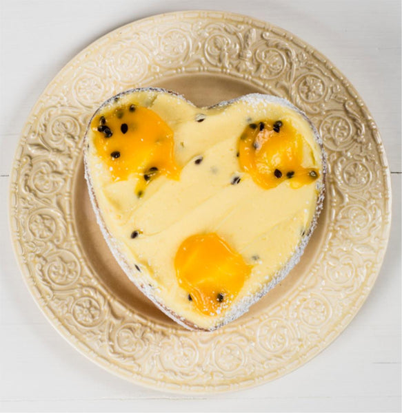 Butter Cake Passionfruit Large Heart