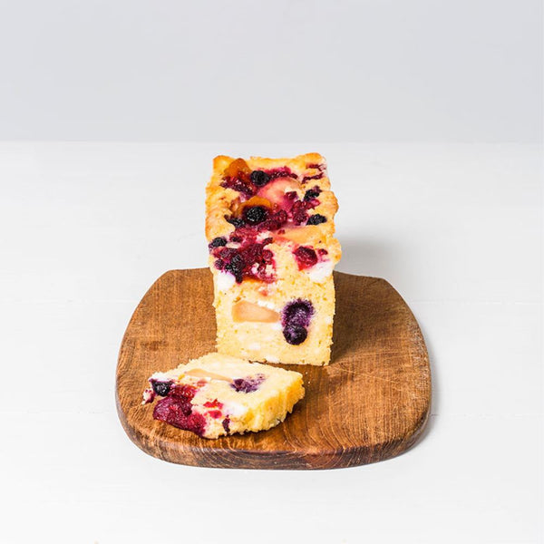 Poached Fruit and Ricotta Cake Bar