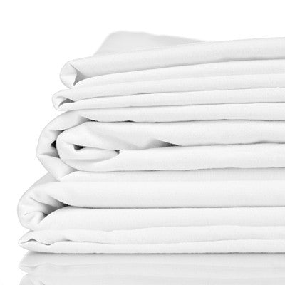 Bamboo Bed Sheet Set - Twill White