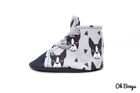 Boston Terrier Lace Up Shoes