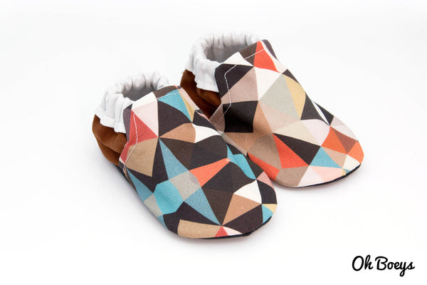 Brown Geometry Shoes