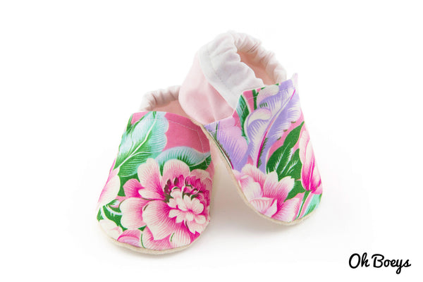 Pink Floral Shoes