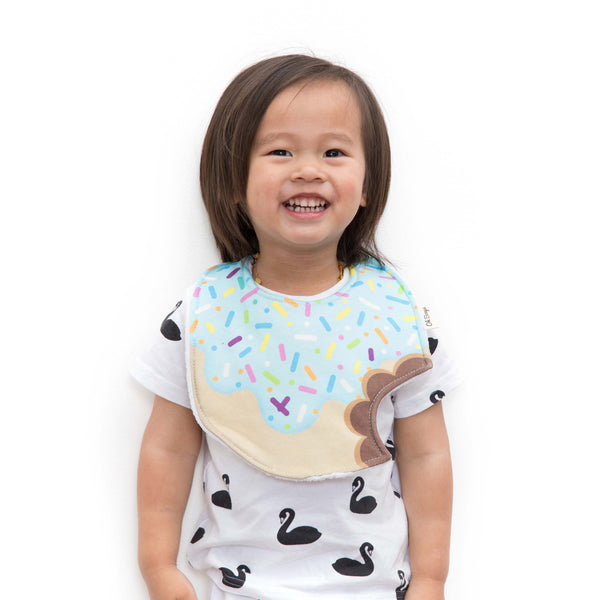Blueberry Icing Donut Bib