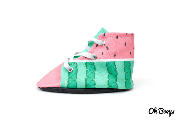Watermelon Lace Up Shoes