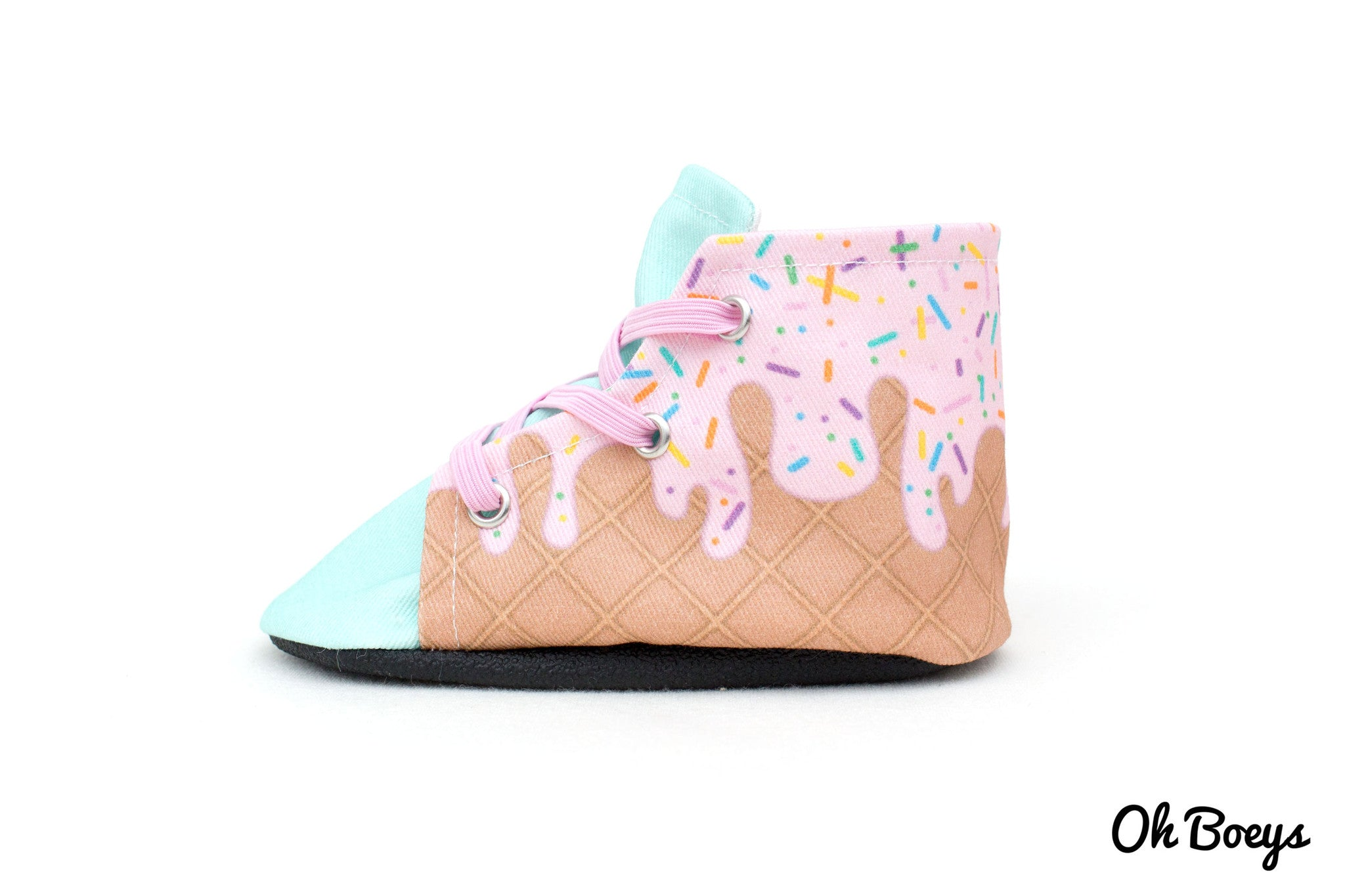 Strawberry Ice Cream Lace Up Shoes