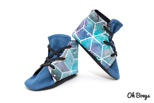 Blue Galaxy Lace Up Shoes