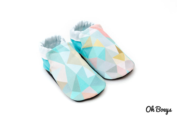 Aqua Geometry Shoes